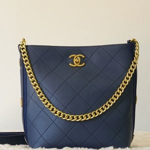 Chanel 10 x 9 x 5 deep blue